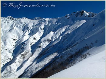 First descent - backcountry guided ski trip Argentina & Chile South America