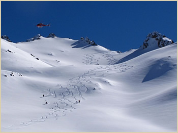 Heliskiing Patagonia Andes - Bariloche backcountry skiing adventure