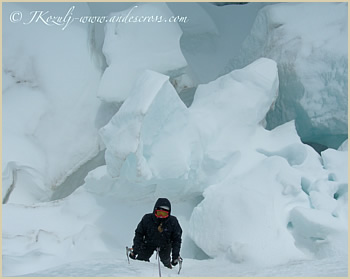 Glacier mountaineering - Patagonia South America